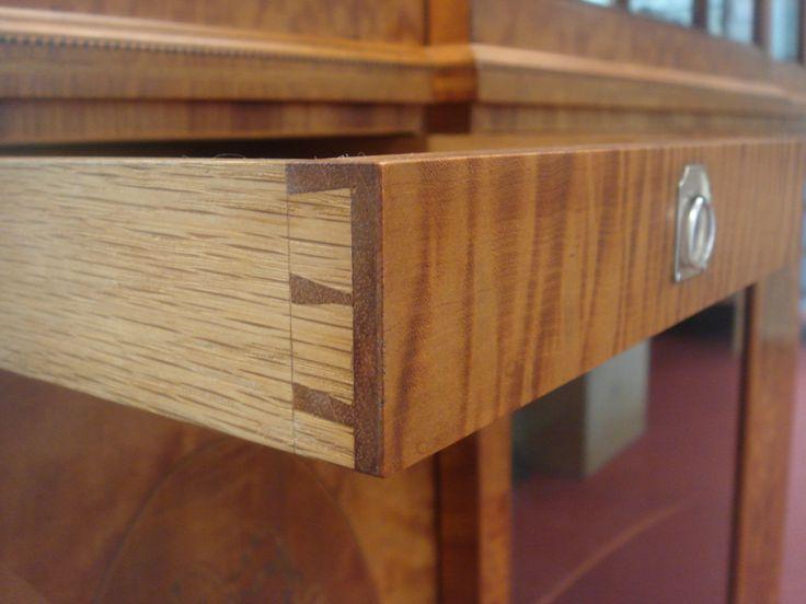 Detail of drawer on James Hicks cabinet. Circa 1930, Lower Pembroke Street, Dublin, Ireland.
