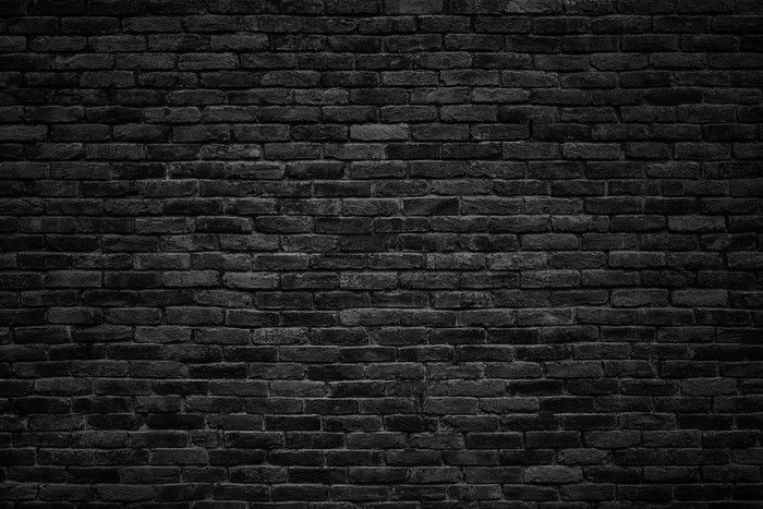 Black Brick Wall, Dark Background For Design Wall Mural