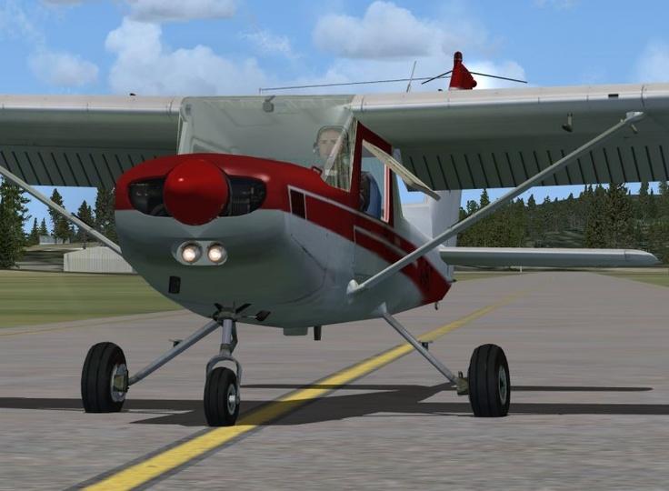 Cessna 152 freeware de www.flight1.com pour FSX.