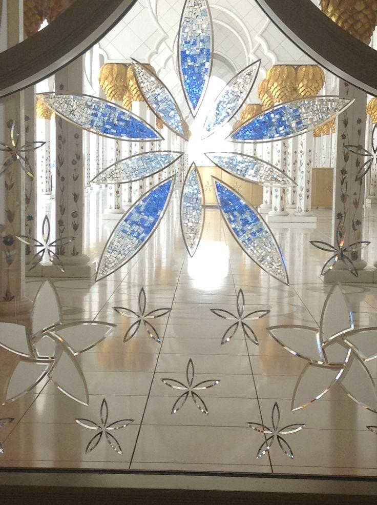 Windows in Sheikh Zayed Grand Mosque in Abu Dhabi