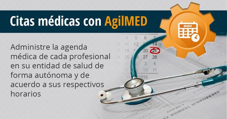 El módulo de citas médicas de AgilMED genera estadísticas de cumplimiento, control de tiempo para indicadores de gestión, control de festivos y procesos para confirmación de citas | #Software #CitasMedicas | http://www.sydicol.com.co/agilmed/modulos/citas-medicas/