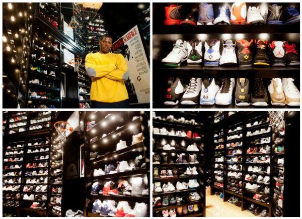 Brooklyn Nets Basketball Baller Joe Marcus Johnson 500 Sq Foot Sneaker Room