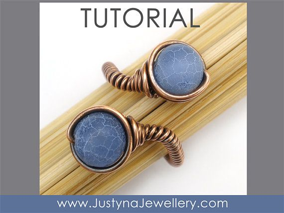 Gioielli anello di perline Tutorial Tutorial di JustynaJewellery