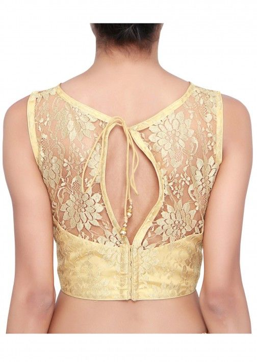 Gold blouse adorn lace only on Kalki