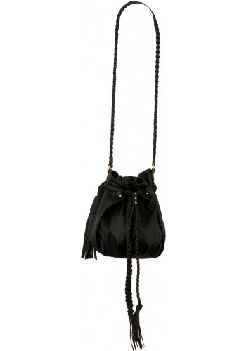 Mini Sabrina in Black by Clementine, pleats & tassel for women on the go