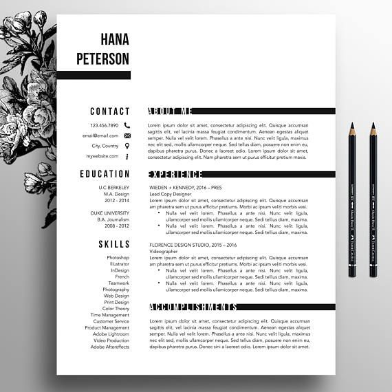 HOLIDAY SALE! Buy 1 resume and get TWO FREE! - Add 3 items to your shopping cart, use code 3FOR15 at checkout. Professionally designed modern and easy-to-customize resume and cover letter template with added bonus references template. Often copied, never duplicated. Hiring