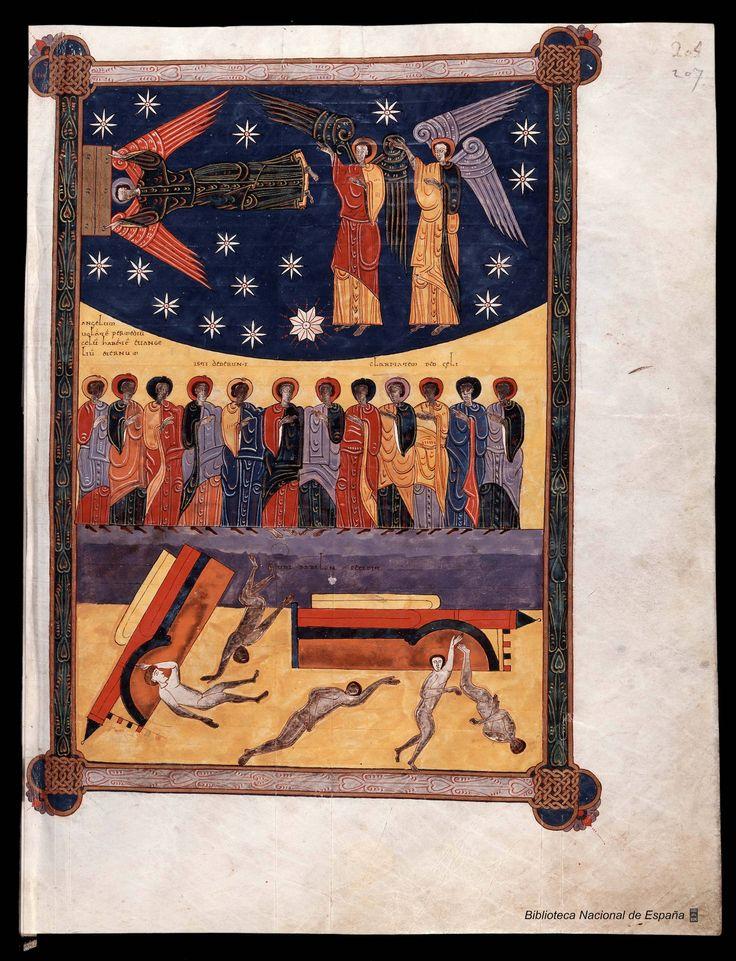 Beato de Don Fernando y Doña Sancha. Fol 207 r. Biblioteca Nacional de España, Madrid.