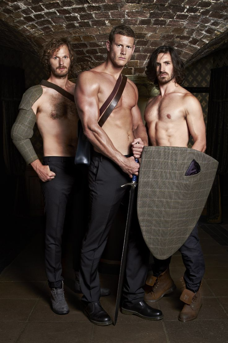 Rupert Young, Tom Hopper, and Eoin Macken. Sir Leon, Sir Percival, and Sir Gwaine from Merlin.