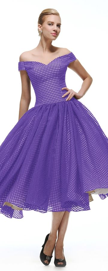 Vintage Abendkleid kurz Lavender Cocktailkleid Abiballkleid Ballkleid