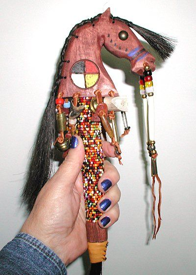 Authentic Native American horse spirit Dance Rattle by