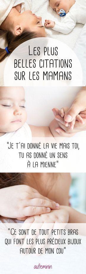 Tendres, émouvantes, amusantes, jolies ou rigolotes. Voici les plus belles citations sur les mamans, les bébés... et les enfants. Cute ou pleine d'humour la citation qui vous ressemble est forcément ici !