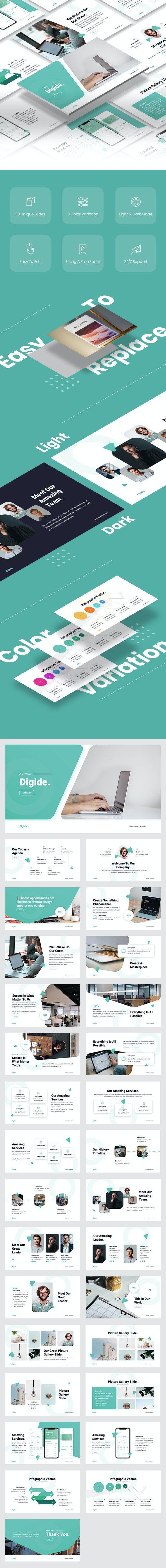 Digide - Startup Keynote Template