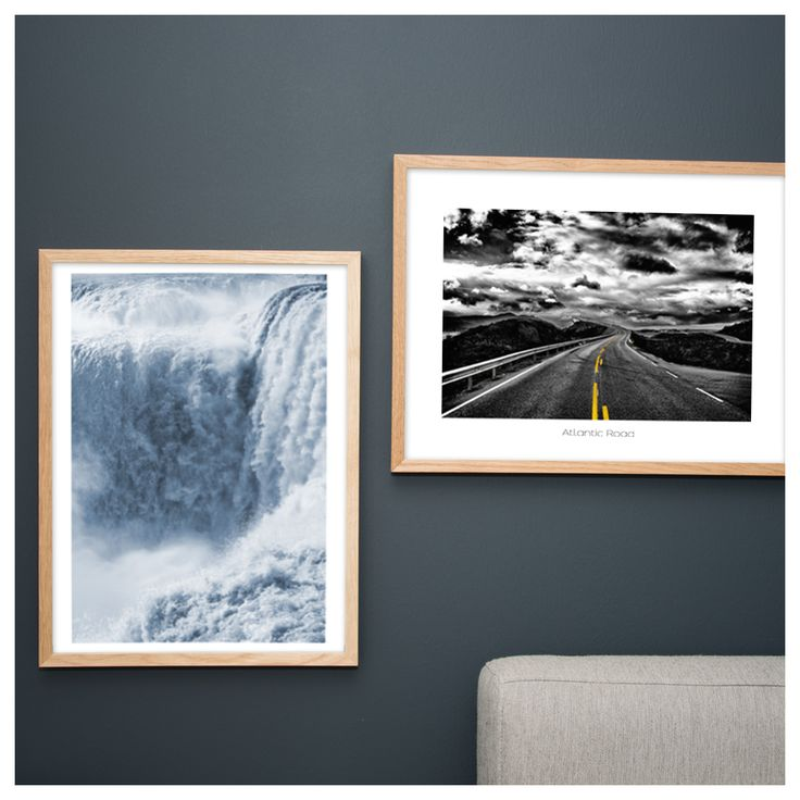 We in Scandinavian Prints love to travel. Here you see the wonderful Iguazu Falls in South America and the known Atlantic Road in Norway.