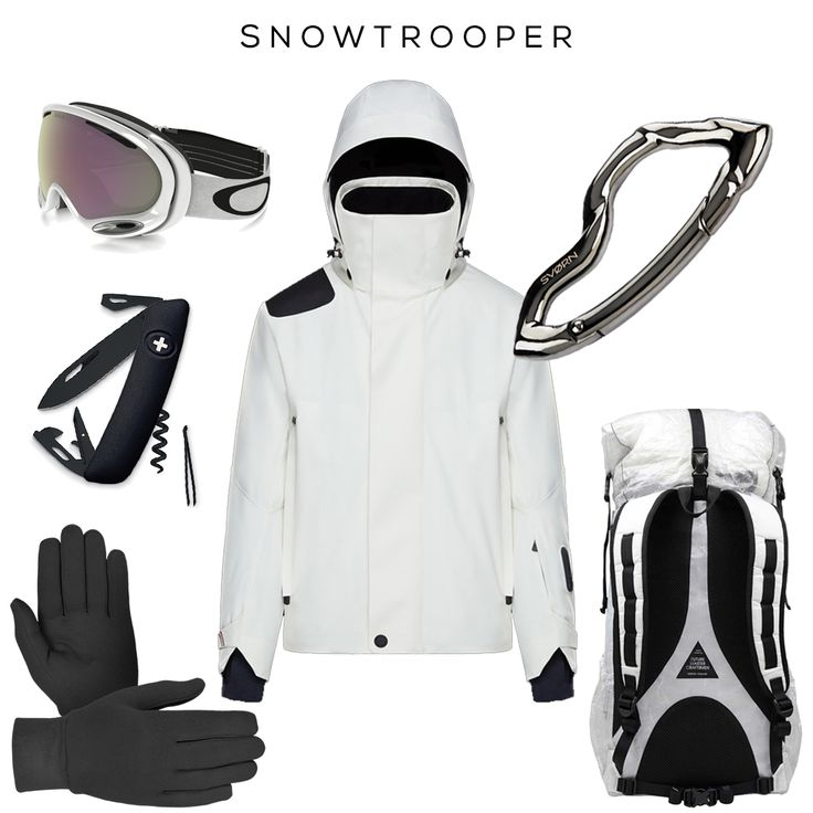 SNOWTROOPER Clockwise (from top left corner): A Frame 2.0 PRIZM Snow Goggles by OAKLEY, Skiwelt Jacket by MONCLER, Arcus carabiner keychain by SVORN, Mountain_ Bakpod Backpack by CIMORO, Ceramic Inner Liner Gloves by SNOWEMOTION, Swiss AllBlack Knife by SWIZA  #ski #snowboard #sport #keychain #carabiner #edc #knife #design #mensaccessories #accessoriesformen #mensstyle #style #starwars #pocketdump #stormtrooper #edcgear #mensjewelry #mensfashion #snow #fashion #streetstyle #streetstyleluxe