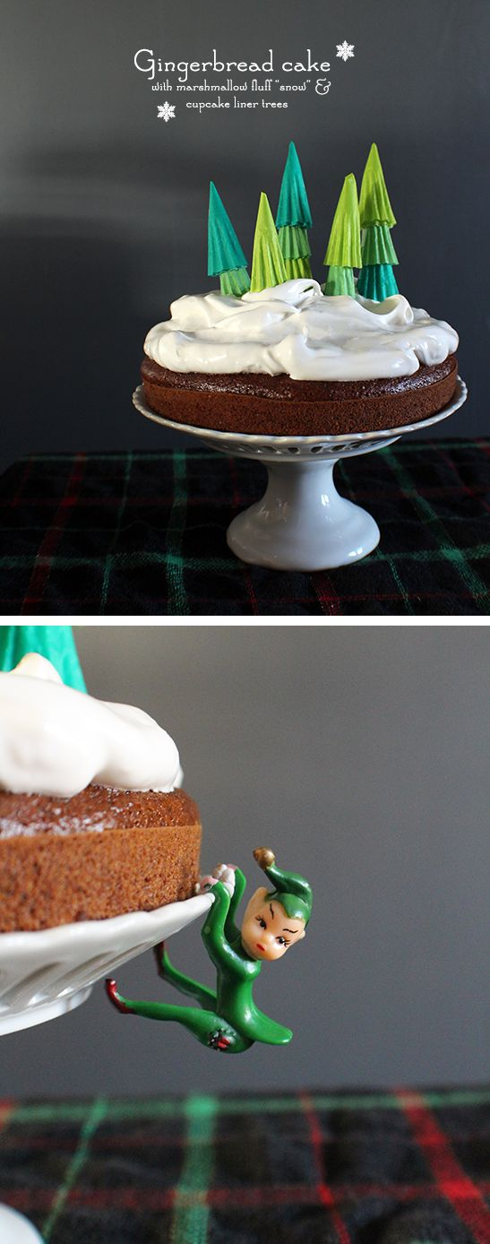 Gingerbread Cake with Snow Frosting | Christmas Desserts