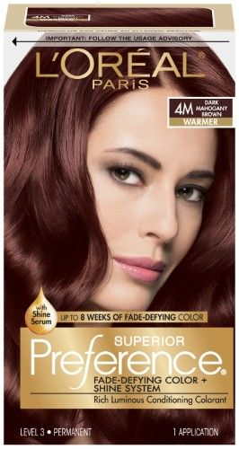 L'Oreal Paris Superior Preference Fade-Defying Color + Shine System, 4M Dark Mahogany Brown, 1 Kit | Jet.com