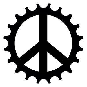 Bike cog Tattoo   Peace Cog Bicycle Temporary Tattoo