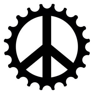 Bike cog Tattoo | Peace Cog Bicycle Temporary Tattoo