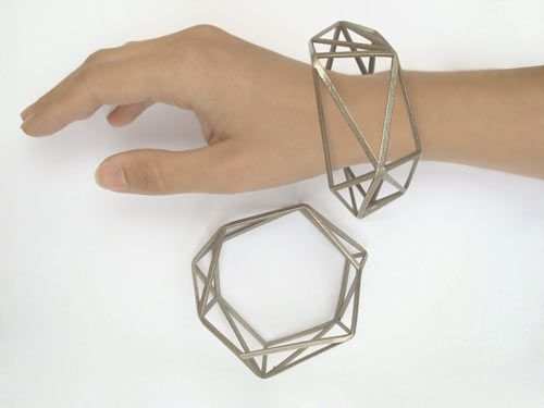 Gonçalo Campos' collection of 3D printed steel jewellery. The Best 3D Printed Jewelry - Design Milk