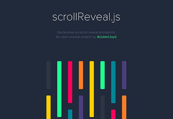 scrollReveal.js is a javascript plugin forcreating nice animations and maintain how elements fade in, triggered when they enter the viewpor...