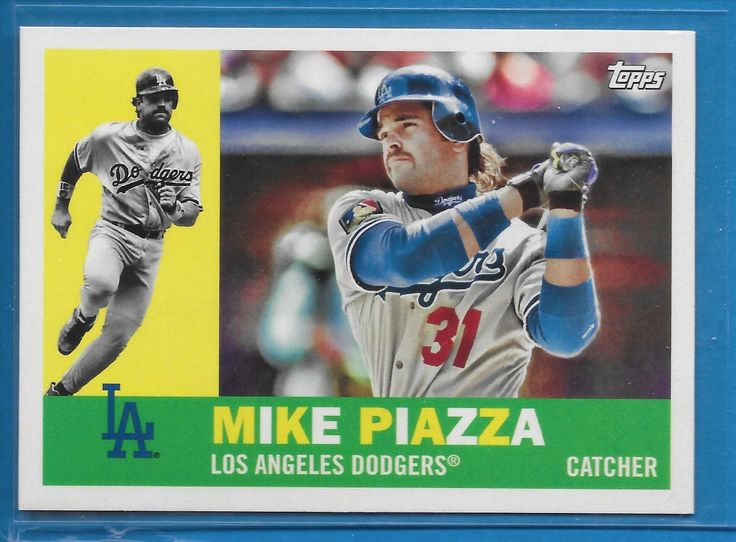 MIKE PIAZZA 2017 Topps Archives SP Photo Variation Card #82 DODGERS