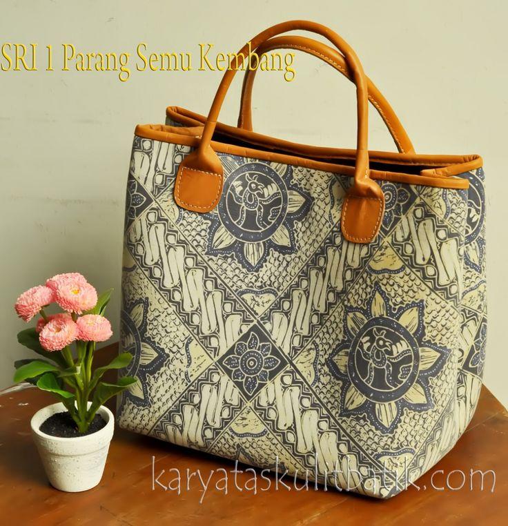 Tas Kulit Batik SRI 1 (tote bag) Parang Semu Kembang