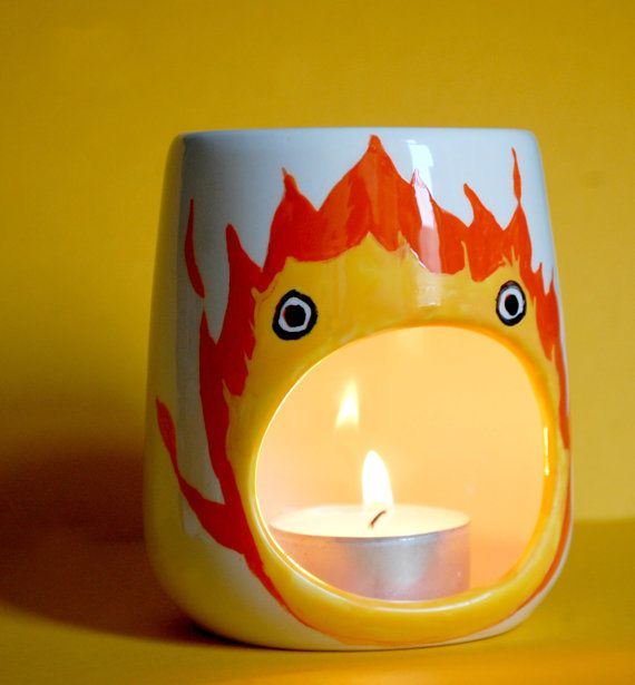 Calcifer Oil Burner Studio Ghibli Gift Howls by ZenibasAttic