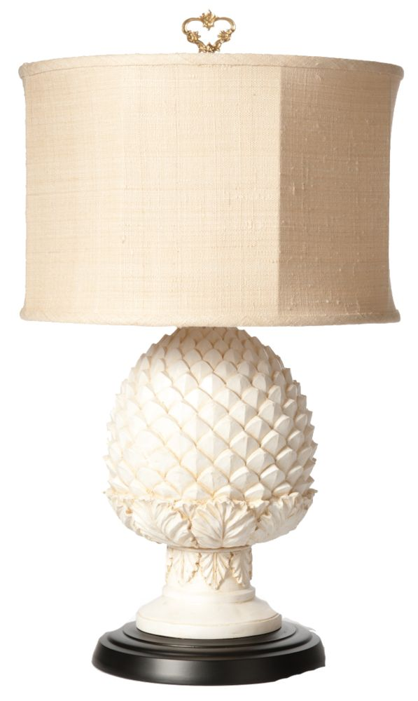 Pineapple desk lamp.  I would love two of these for my hubby's desk at home!
