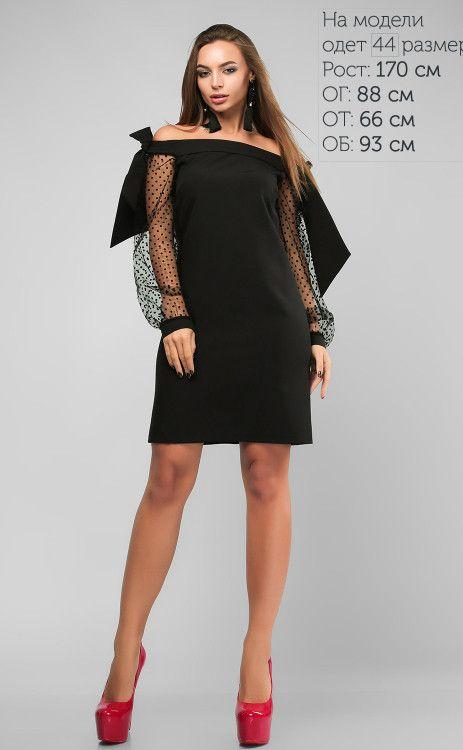 659ae0583f3 Красивое черное платье приталенного силуэта