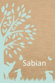 geboortekaartje Sabian kraft karton hertje mintgroen