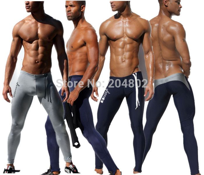 HOT Sexy AQUX Men's Workout Tights Elastic Gym Sports Running Pants fashion Trousers Length pants Polyestr Sweatpants # AQ05
