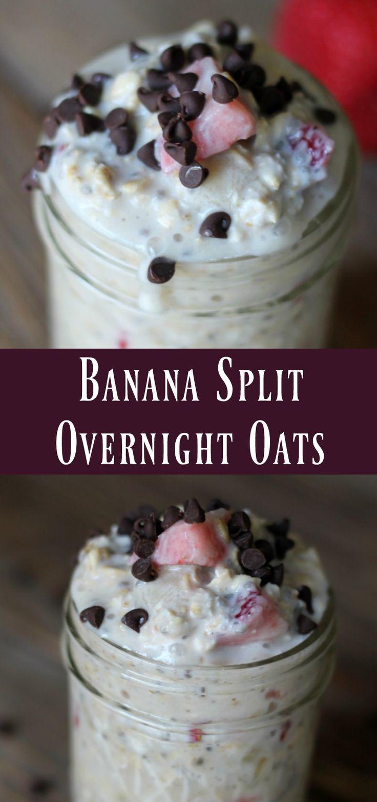 Banana Spilt Overnight Oatmeal