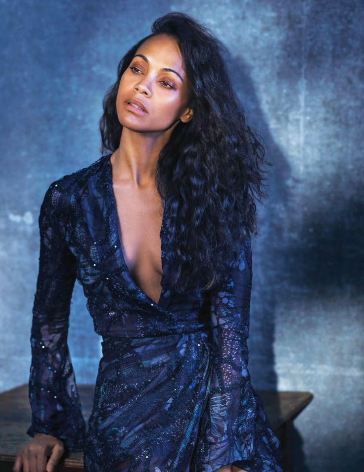 Zoe Saldana by Kurt Iswarienko for Grazia Italia January 5th, 2017
