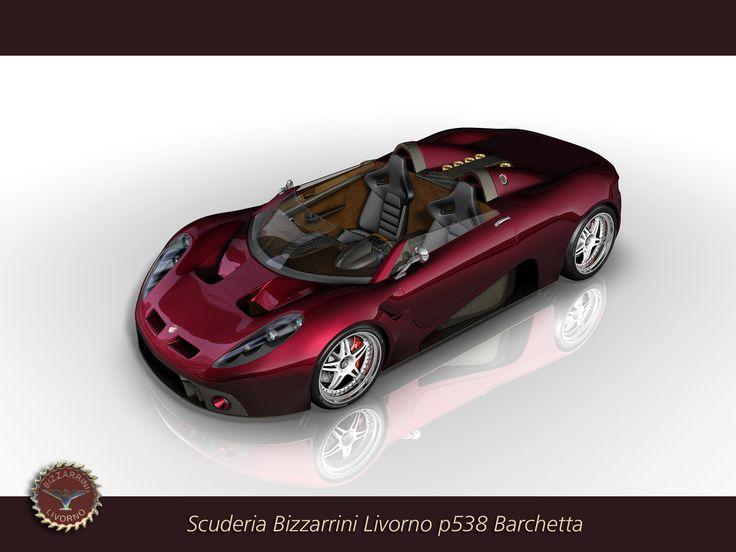 Early wallpaper test/sketch for Bizzarrini P538 Prototype 2007