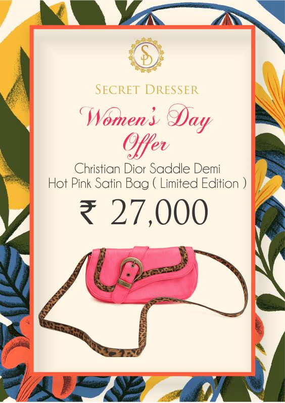 #WomensDay special branded limited edition sling only at #SecretDresser Avail now by placing an order Visit - https://goo.gl/et2XEJ #BeBoldForChange #WomenPower