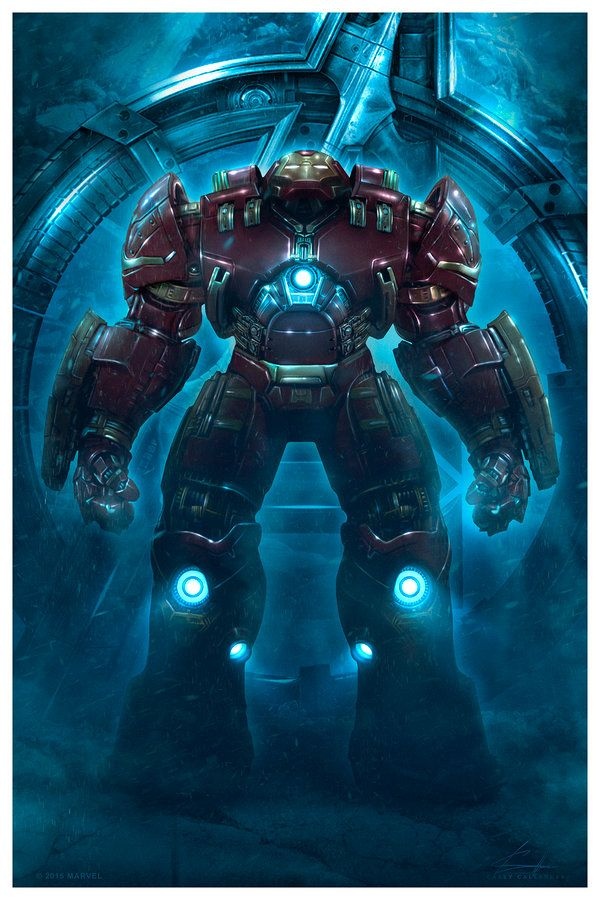 Avengers: Age of Ultron - Hulkbuster by caseycallenderart