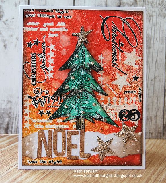 I love Kath's Christmas card here...a spin off of Tim's November tag.