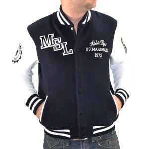 Us Marshall - Veste Teddy - Homme - Dark Navy Blanc