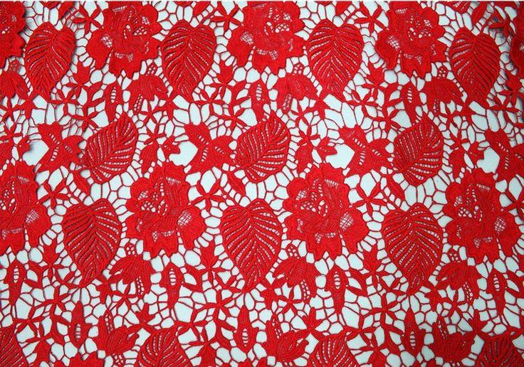 Купить Красный цвет высокое качество африканская гипюр кружевной ткани для шитья африканских провод кружевной ткани для свадебногои другие товары категории Тканьв магазине BIG BEN TEXTITLEнаAliExpress. 0004