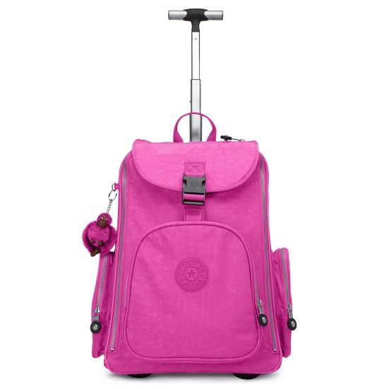 NEW and improved with room for your beloved laptop and airline carry-on acceptable! Able to be wheeled or carried backpack style. Innovative features allow for use as carry-on luggage or a back-saving solution for students with a heavy homework load. #Back2Kipling