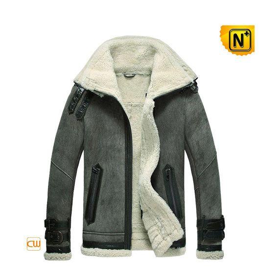 Leather+Shearling+Jacket/Sheepskin+Bomber+Jacket+by+cwmallsshop