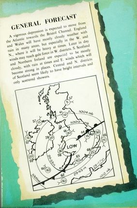 Weather map diagram, illustrated by Robert Ayton, from Weather (Ladybird, 1962).
