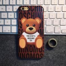 テディベア熊クマ iphone 6s/6 plus ケース モスキーノmoschino iphone7 カバー 超可愛いブランド風シリコン製携帯カバ  ー 正規品 送料無料
