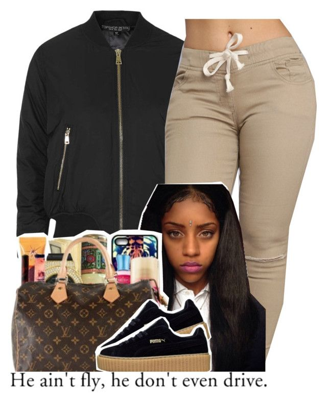 """""""."""" by independentbxtchesonly ❤ liked on Polyvore featuring Topshop"""