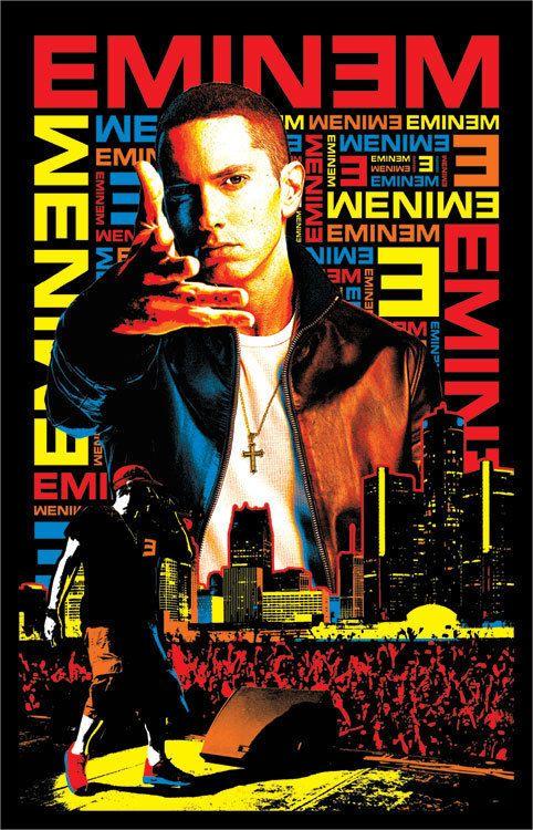 Blacklight Poster Eminem Rap Hip Hop