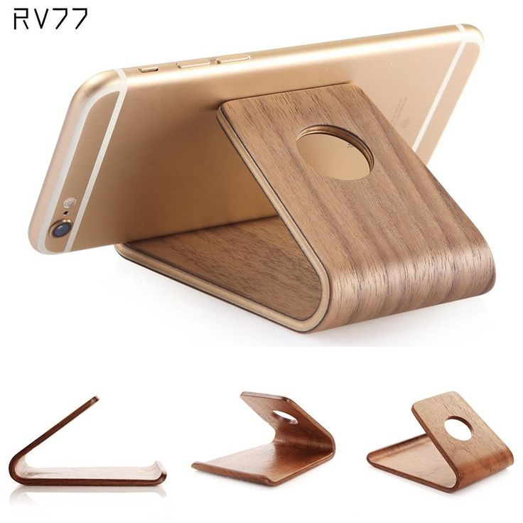 Universal Stand Phone Holder Bamboo Wood Stand Holder for iPad Wooden Stand for iPhone Watch SE 6 6S for Samsung S6 S7 Note5
