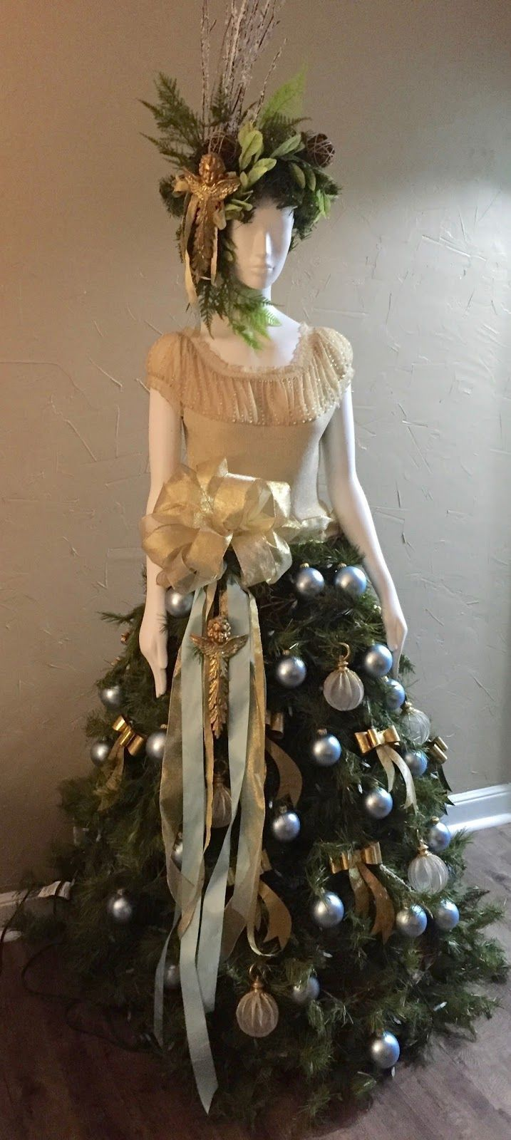 I started with a mannequin purchased at Restore for $45, a artificial tree (free… – Mannequin Madness