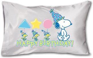 Snoopy Doğum Günü - Yastık 45 x 27 x 10 cm