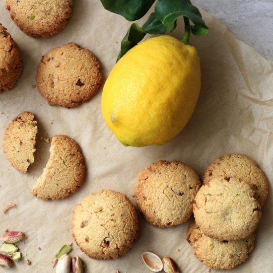 Millet, Almond and Pistachio Cookies, wholesome crunchy cookies that taste like biscotti (gluten-free & vegan)