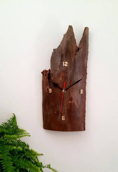 Driftwood Clock, Wall Clock, Wood Clock, Raw Wood Clock, OOAK, Recycled Wood, Wooden Clock, Handmade Wall Clock, Reclaimed Wood Clock